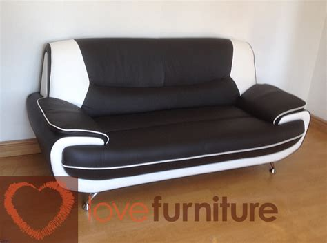 white leather 2 seater sofa palermo 2 seater sofa black white
