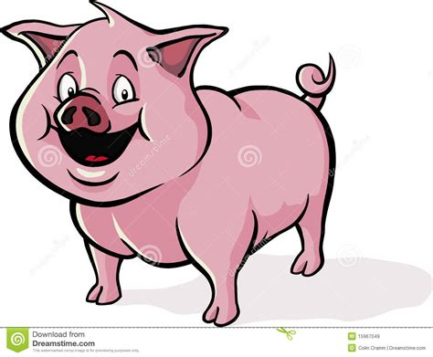pig clipart 1 royalty free stock illustrations vector happy cartoon pig stock vector image of cartoon happy