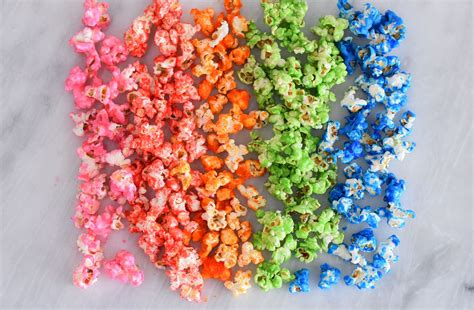 how to make colored popcorn colored popcorn