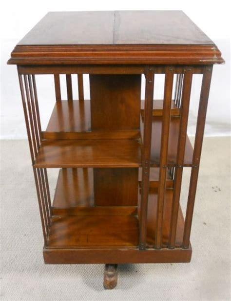 Edwardian Bookcase edwardian mahogany revolving bookcase 116621