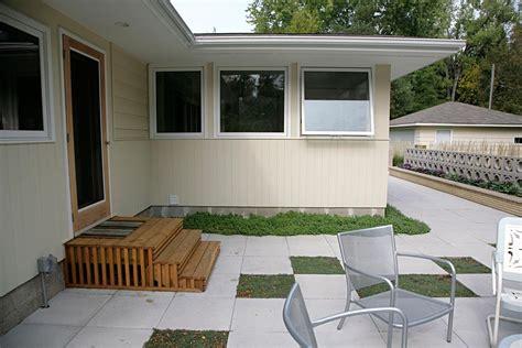 mid century modern patio ground one