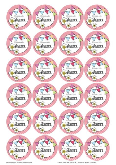 great british summer strawberry jam jar lid labels you