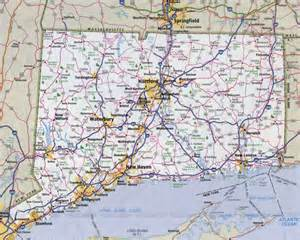 large detailed roads and highways map of connecticut state