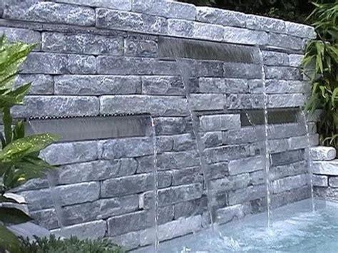 moderne wasserspiele 720 steinwand mit wasserfall mischungsverh 228 ltnis zement