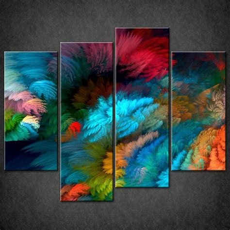 colorful canvas abstract colourful split canvas wall pictures prints