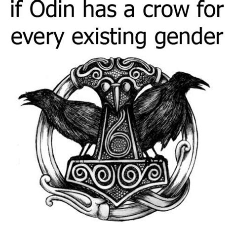 if odin has a crow for every existing gender vikingball