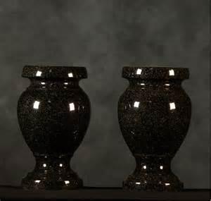 Plastic Flower Vases For Cemetery Black Granite Cemetery Vases Haluch S Memorials
