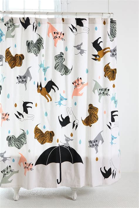 cat and dog shower curtain cats and dogs shower curtain urban outfitters