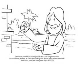 Parable Of The Mustard Seed Coloring Page  Whats In Bible sketch template