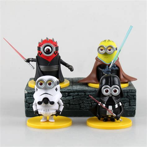 Figure Minions 4pcs by 4pcs Set Despicable Me Figure Anime Minion Minions