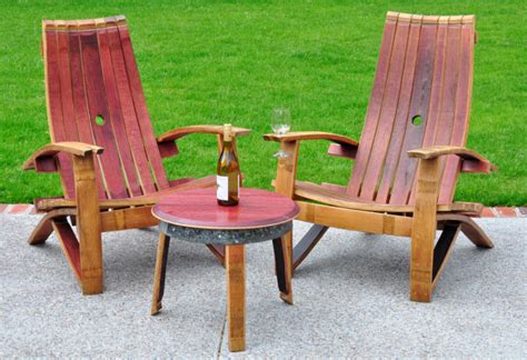 Handmade Adirondack Chairs - summer must handmade wine barrel adirondack chairs