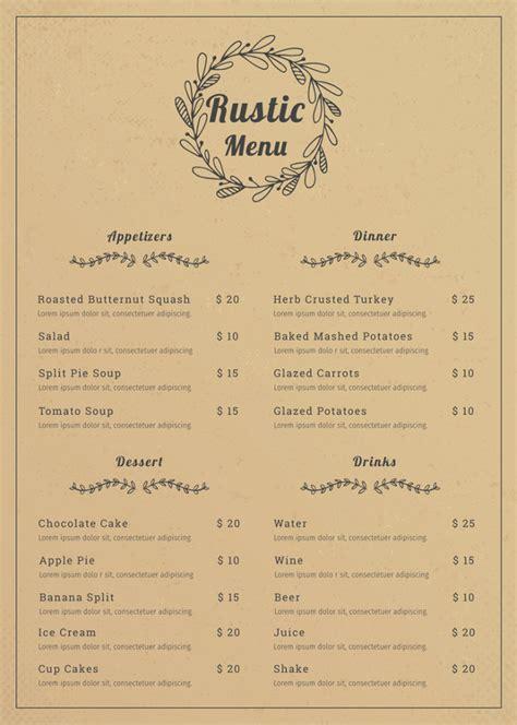 menu template illustrator restaurant menu template 53 free psd ai vector eps