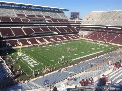 kyle field visitor section kyle field section 340 rateyourseats com