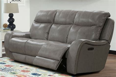 gray recliner sofa mammoth grey dual power reclining sofa mmam 832ph gre