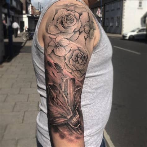 black tattoo sleeve designs 23 flower sleeve designs ideas design trends