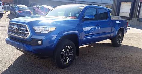 Toyota Tacoma Blue 2016 Toyota Tacoma Cab Trd Upgrade Package