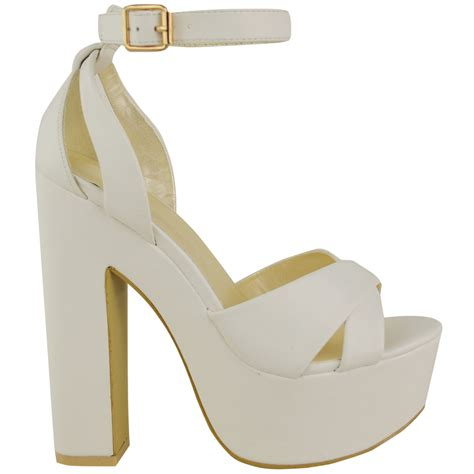 chunky high heel sandals new womens platform high heel sandals chunky cross