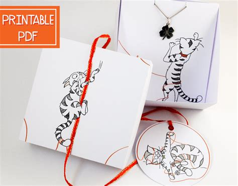 paper jewelry box diy cat lover gift printable jewelry