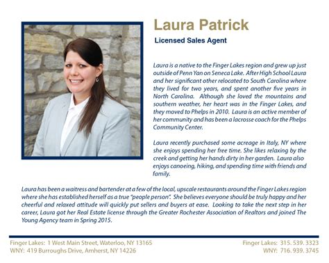 Laura M Patrick Licensed Sales Agent Largest Real Estate Sales And Property Management New Real Estate Bio Template
