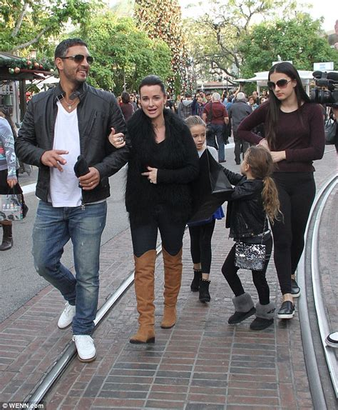 portia atl housewvies wearing slick ponytail family outing kyle richards visited the grove in west