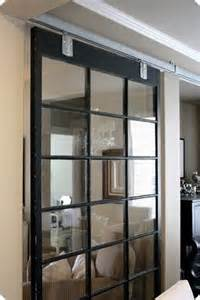glass barn door for the home