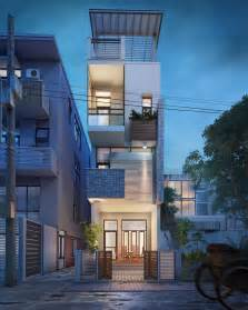 small narrow house vietnam 3d visualization fresh design narrow block homes new free house design narrow land