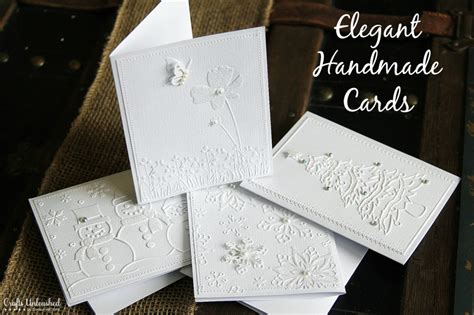Craft Handmade Cards - handmade cards tutorial with white on white