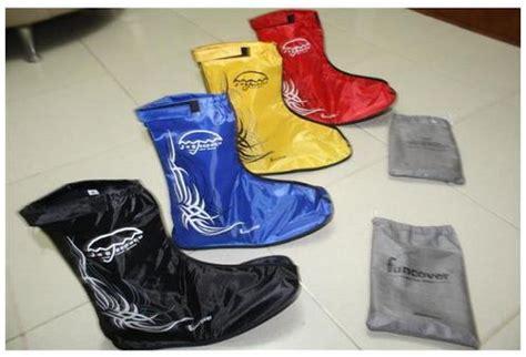 Funcover Sepatu Hujan Merah funcover cover shoes 171 agen distributor jas hujan