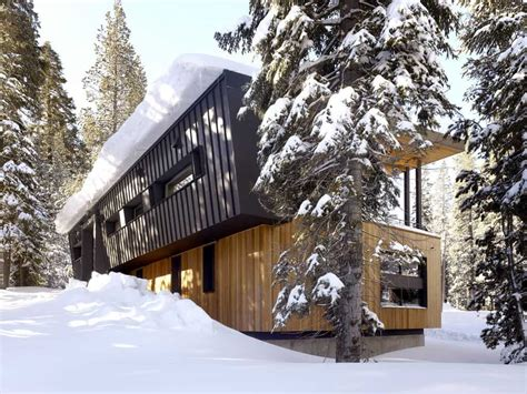 modern mountain home  railroad avalanche shed design
