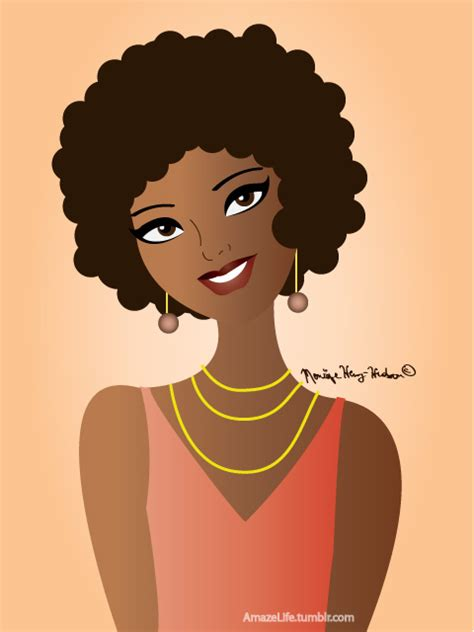 Natural Hairstyles Cartoon | natural hair cartoon pictures amazelife if i were a