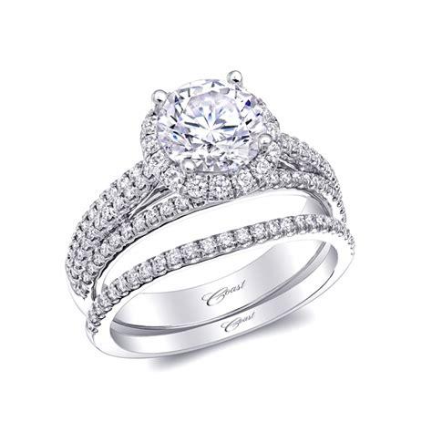 Coast Diamond Wedding Ring Set Of The Week Round Halo