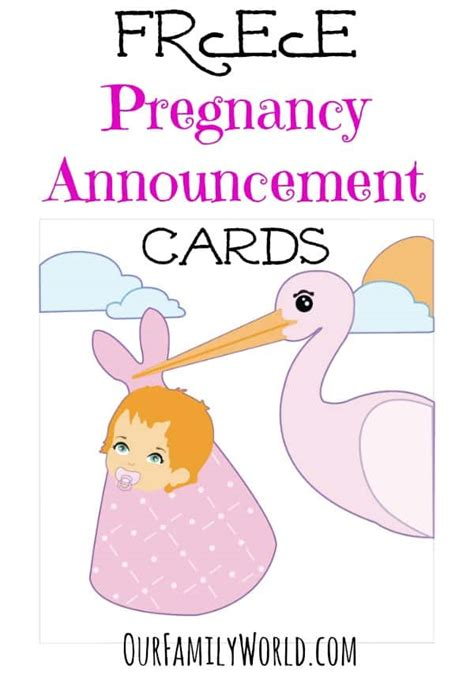 pregnancy announcement card template great free pregnancy announcement cards