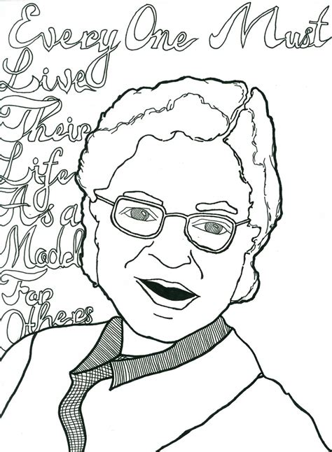 coloring sheet rosa parks free rosa parks coloring pages