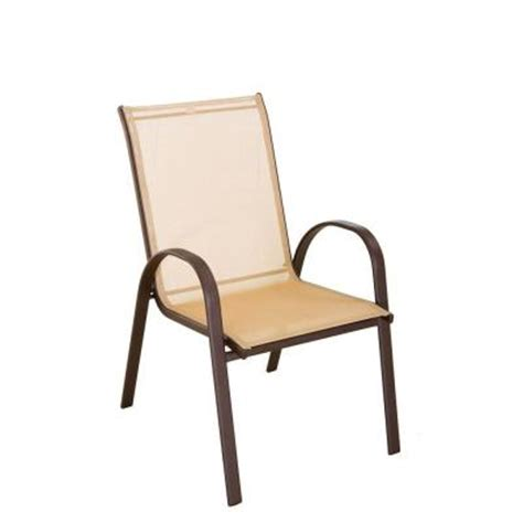 Patio Sling Chairs Navona Sling Patio Chair Fcs00015j The Home Depot