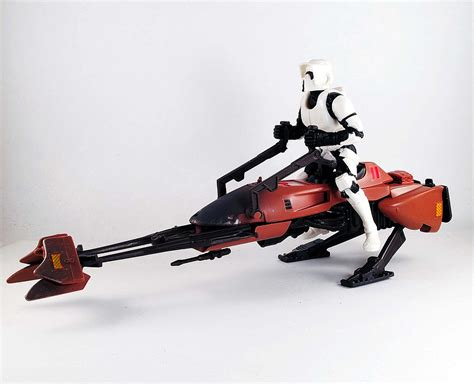 Imperial Speeder Bike Polybag made in x my new wars imperial speeder bike with biker scout figure from hasbro