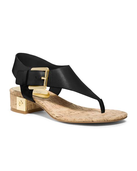 michael kors sandal michael kors sandal in black lyst
