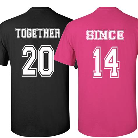 Shirts For Couples T Shirts Together Since Shirt S Day