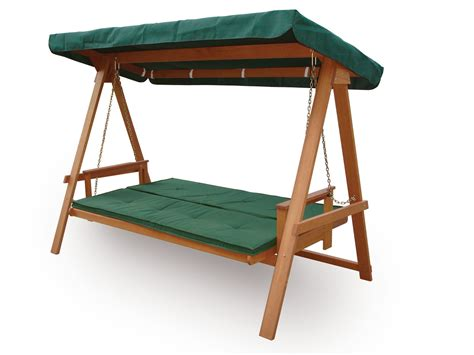 wooden seat swing quality wooden 3 seater garden swing bed hammock swing