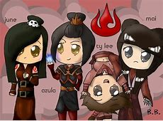 fire nation girls chibi - Avatar: The Last Airbender Photo ... Zuko And Mai Gif