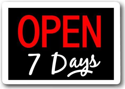 seven days week open 7 days burger parlour