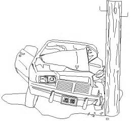 traffic accident colouring pages