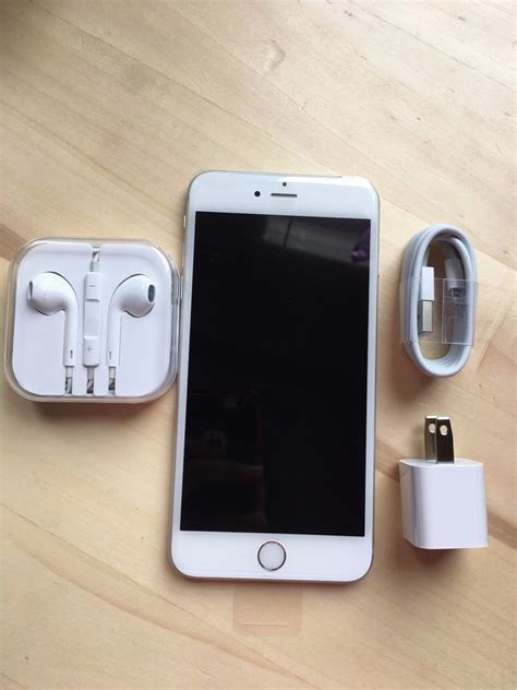t iphone 6 plus new apple iphone 6 plus 64gb silver at t factory unlocked any gsm ebay