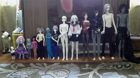 different types of jointed dolls bjd size comparison