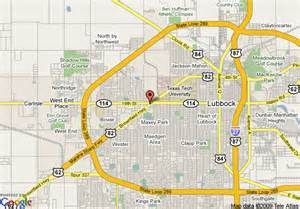 map of la quinta inn lubbock center lubbock