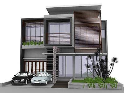 desain rumah idaman 2 lantai flowers minimalist house design image model rumah idaman