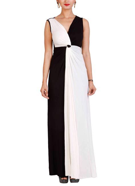 designer draped dresses neha gursahani black and white draped gown shop gowns