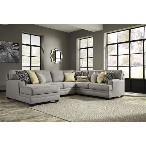 pewter sectional ashley furniture cresson sectional in pewter group 2