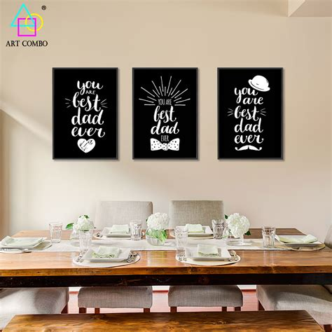 home decor express modern white black lovely words paintings on canvas wall