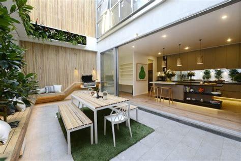 brilliant open kitchen connected   terrace