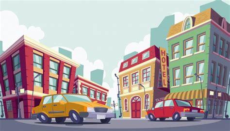 imagenes urbanas gratis vector ilustraci 243 n de dibujos animados de la zona urbana